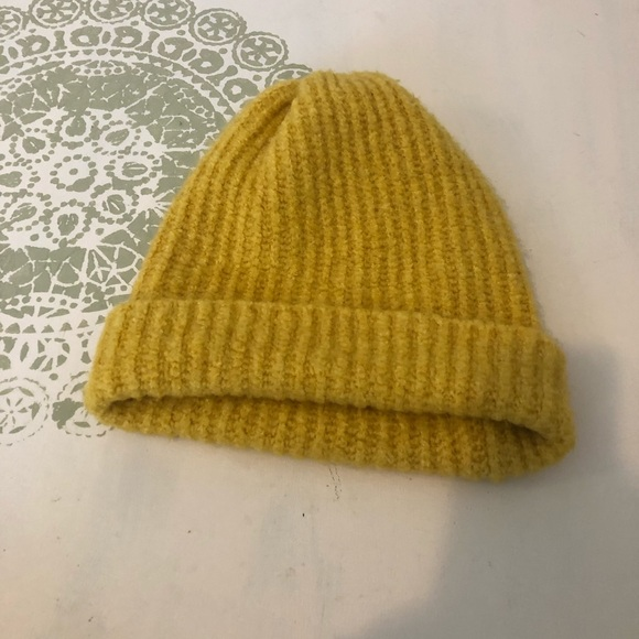 Free People Mustard yellow cozy  slouch beanie